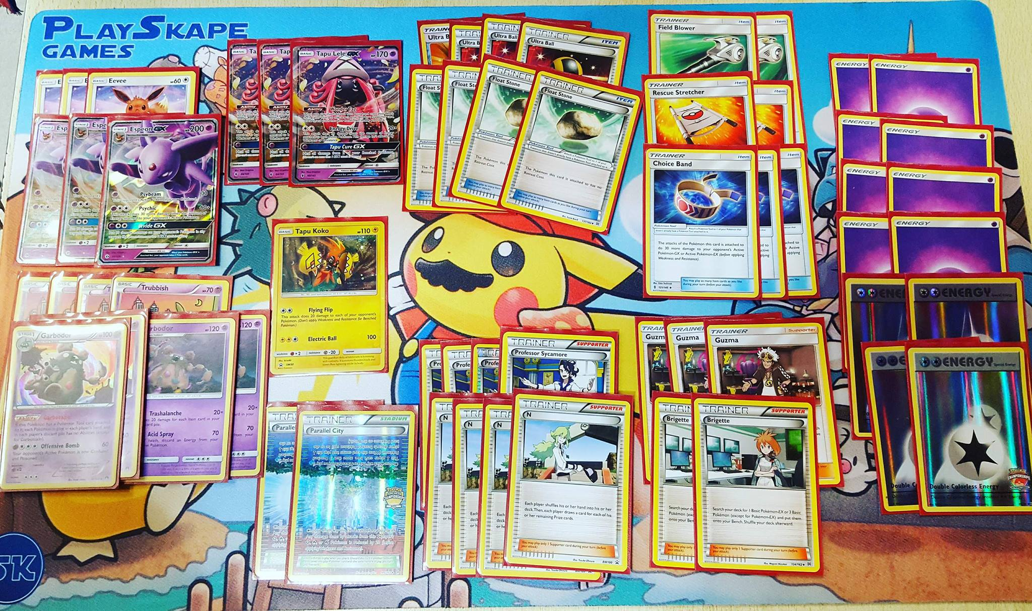 The 60 cards I played at the League Cup!