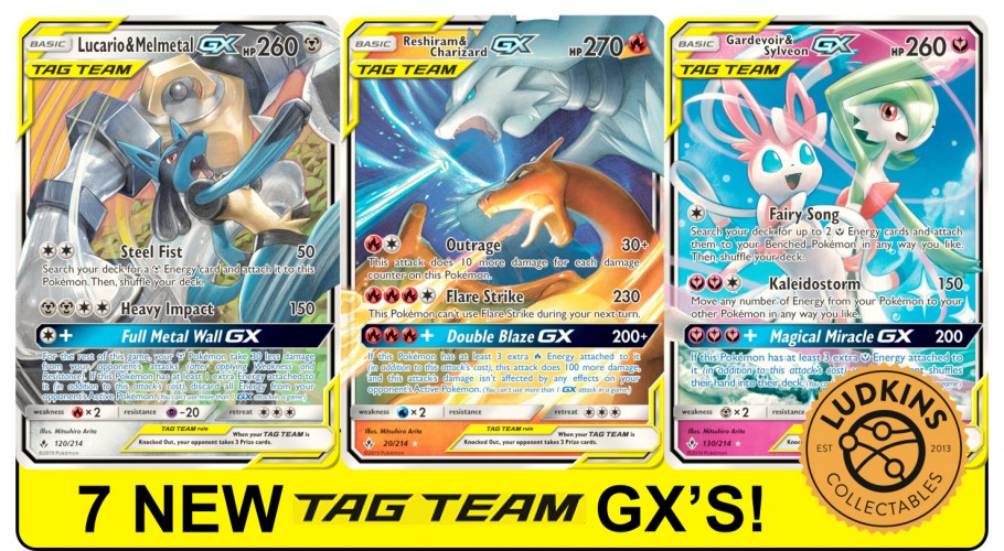Another Charizard Card?! - 7 New Tag Team GX Pokémon from Unbroken Bonds