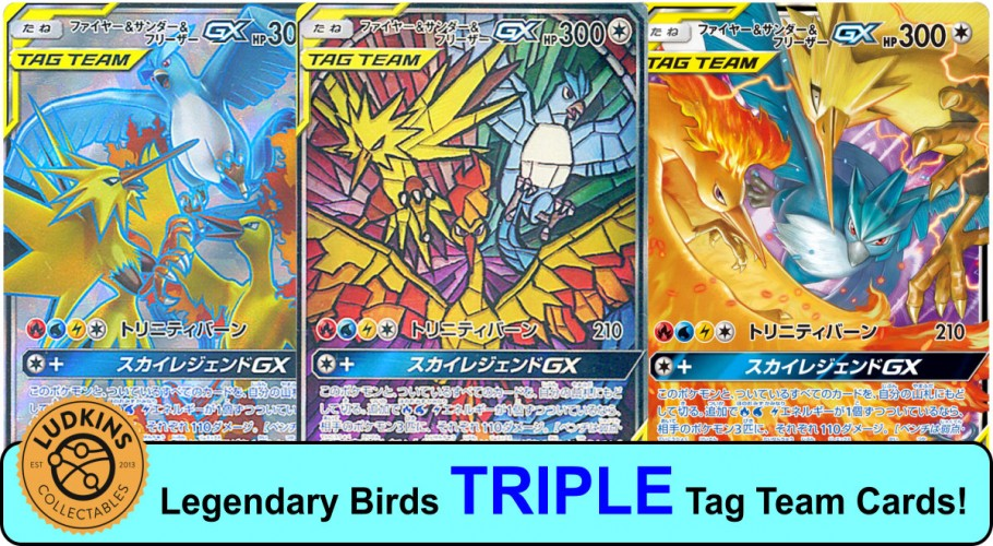 TRIPLE Tag Team Cards?! - Moltres & Zapdos & Articuno-GX from Sky Legend