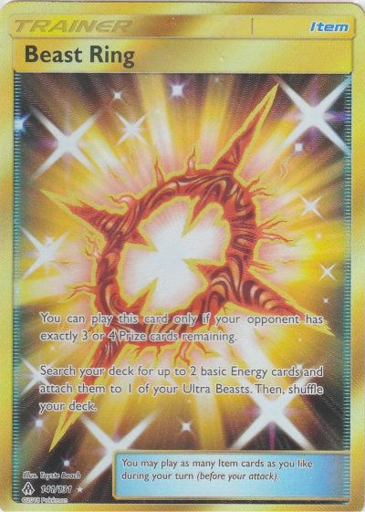 Beast Ring Secret Rare Forbidden Light TCG
