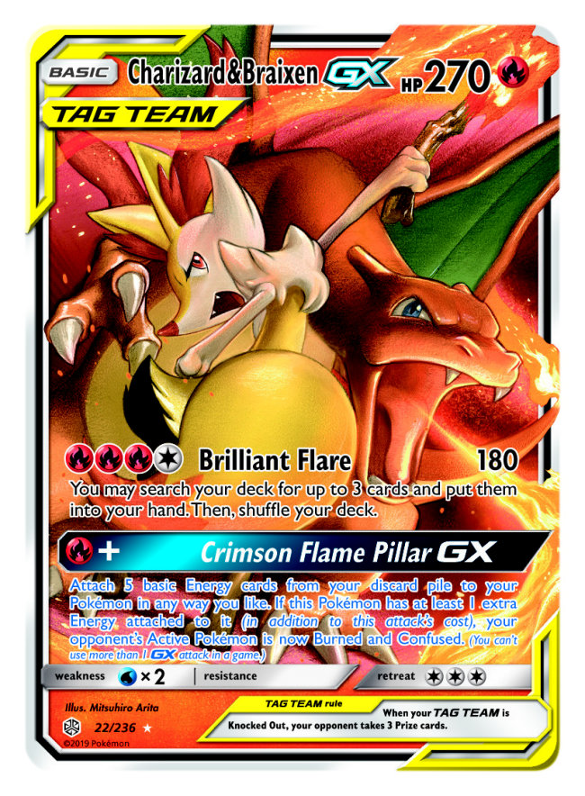 Charizard Braixen GX Tag Team